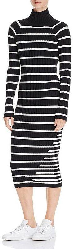 07ae9749ef T by Alexander Wang Striped Body-Con Sweater Dress Women - Bloomingdale s