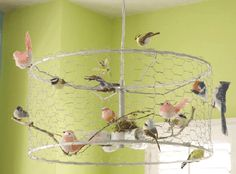 Decor 101: How can I make a DIY birdcage chandelier from an IKEA light?
