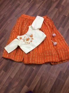 @raashik99 Girls Frock Design, Kids Frocks Design, Baby Frocks Designs, Kids Indian Wear, Kids Ethnic Wear, Frocks For Girls, Little Girl Dresses, Kids Party Wear, Kids Blouse Designs