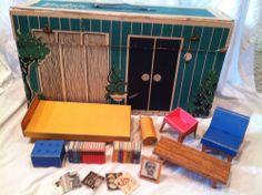 VINTAGE 1962 Original BARBIE DREAM HOUSE Playset + Furniture for Dolls