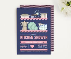 Mid-Century Modern Bridal Shower Invitation - Retro bridal shower invitations - Scandinavian Designs - Printable or Printed by LucyLovesPaper on Etsy https://www.etsy.com/listing/191186265/mid-century-modern-bridal-shower