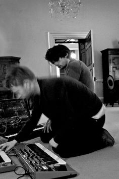 Thom Yorke and Jonny Greenwood, exploring new sounds and instruments