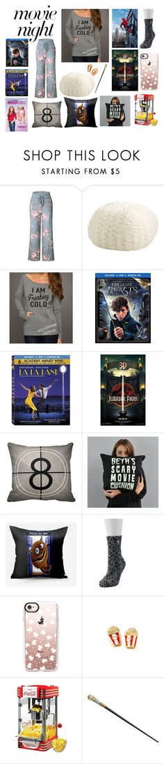 """""""Movie night: Nerd Style"""" by alyssa8871 ❤ liked on Polyvore featuring Pier 1 Imports, Marvel, Columbia, Casetify, Nostalgia Electrics, movieNight and contestentry"""