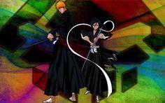 Ichigo and Rukia wallpaper
