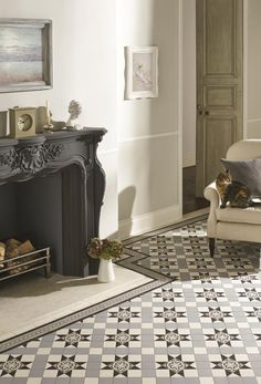 Quintessentially British geometric floor tiles. Recreate authentic Victorian and Edwardian patterns in halls, kitchens, bathrooms, conservatories, as well as paths and patios. They can be be used in restoration projects and are ideal for feature floors in modern homes.