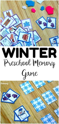 Practice recognizing winter pictures with this fun winter preschool memory game! Perfect for winter busy bags! preschool Winter Preschool Memory Game for Kids Winter Activities For Kids, Christmas Activities, Preschool Winter, Abc Games, Activity Games, Art Therapy Activities, Preschool Activities, Preschool Art, Toddler Preschool
