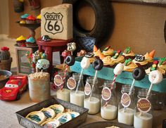 Vintage Cars Radiator Springs Birthday Party