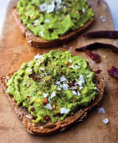 AVO TOAST: From Crazy Sexy Kitchen by Kris Carr & Chef Chad Sarno. Substitute Whole Grain Bread with Gluten Free Rice Millet Bread by Food for Life | kitchendaily.com