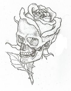 Simple skulls and roses drawings easy skull drawings, simple skull drawing, rose drawings, Cool Art Drawings, Art Sketches, Drawings Of Skulls, Drawing Pictures, Drawings About Love, Cool Simple Drawings, Simple Drawings For Beginners, Easy Sketches To Draw, Cool Drawings Tumblr