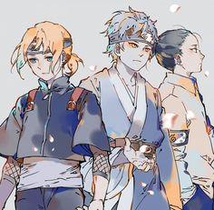 Naruto: Mitsuki, Shikadai, and Inojin