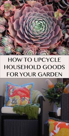 How to Upcycle Household Goods for Your Garden | Martha Stewart Living - How are you celebrating Earth Month this year? Perhaps you're not ready to ditch the car keys or downsize to a tiny house... so we won't make you go full granola. Take these upcycle ideas and transform your garden into an Earth-friendly paradise.