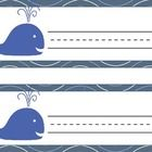 Back to school, Ocean, nautical, whale themed name plates for desks ...