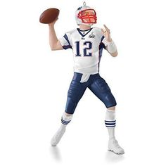 Tom Brady 2015 Hallmark Ornament New England Patriots NFL Football Super Bowl #Hallmark #NewEnglandPatriots