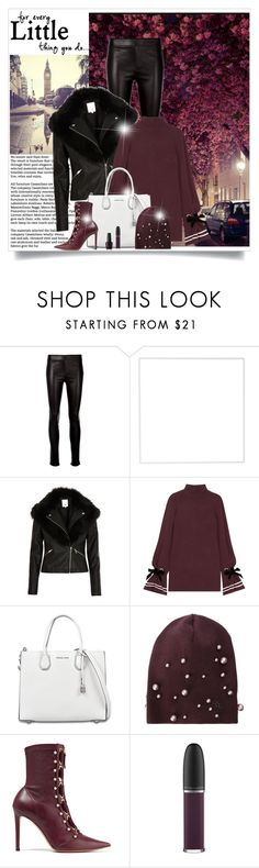 """Untitled #723"" by beautifulplace ❤ liked on Polyvore featuring Helmut Lang, Menu, River Island, Mother of Pearl, MICHAEL Michael Kors, Maison Michel, Altuzarra, MAC Cosmetics and OPI"