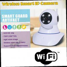 46.89$  Watch here - http://aliraj.worldwells.pw/go.php?t=32586115932 - Wireless IP Camera Smart Home Surveillance Baby Monitor HD CCTV Security Network Camera Support Wifi 2-Way Audio ONVIF 720P IR