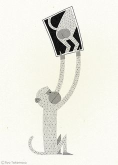 MONKEY | Ryo Takemasa | flickr | what r u doing little monkey?? ^_^