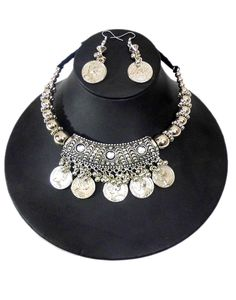 GiftPiper Oxidized Metal Navratri Jewellery Set . Pay COD (Resellers Whatsapp-9902488133) -http://www.giftpiper.com/product/oxidized-metal-navratri-jewellery-set-coin-tassels