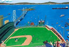 Gone! by Mark Ulriksen. Prints available from $60. Want your kid to be a baseball star? We've got a lot of baseball at 20x200 -- like this tribute to the San Francisco Giants' ballpark. #nursery #babyshower