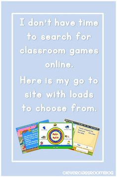 """I don't have time to search for classroom games online.  Here is my go to site with loads to choose from."""