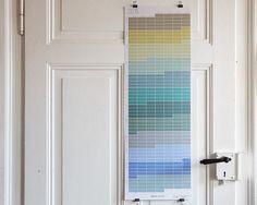 Wall Planner limited edtition Wandkalender 2015 Planer 2015 Pastell Aqua Türkis Natur von WiLaNo German/English #etsyfinds #etsy