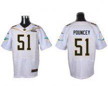 Miami Dolphins #51 Mike Pouncey White 2016 Pro Bowl Elite J