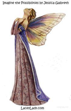 Jessica Galbreth Beautiful Fairies at Magical Omaha Fairy Pictures, Fairy Figurines, Beautiful Fairies, Fairy Art, Magical Creatures, Garden Crafts, Faeries, Tie Dye Skirt, Fantasy Art