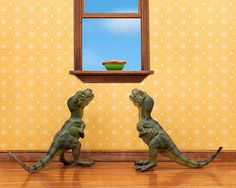 Hey, I found this really awesome Etsy listing at https://www.etsy.com/listing/154231758/t-rex-twins-dinosaur-diorama-print-for