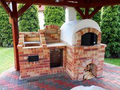 Vrtni kamini i roštilji - Recepti na brzinu Simple Outdoor Kitchen, Outdoor Kitchen Design, Pergola Patio, Backyard, Barbeque Design, Bbq Island, Pizza Oven Outdoor, Porch Garden, Diy Outdoor Furniture