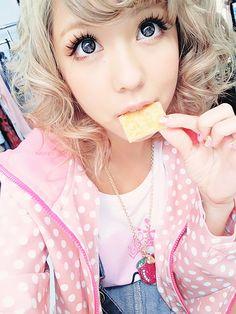 Black gyaru | circle lens gyaru gyaru fashion lens japanese japanese girl cute