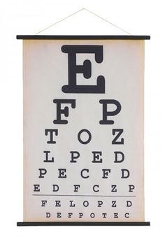 Inspiring Quote Chalkboard Eye Chart Template Canvas Print