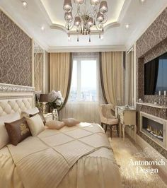 The ideal color palette completed with exquisite textures and patterns Bedroom