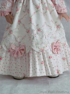 """13"""" Effner Little Darling BJD fashion Pink Regency style OOAK set by JEC"""