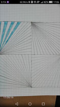 Graph Paper Drawings, Graph Paper Art, Ink Pen Drawings, Easy Drawings, Illusion Drawings, Blackwork Patterns, Geometric Drawing, Graph Design, Art Deco Pattern