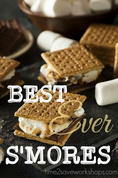 Best Ever S'Mores recipe.  As a long time Girl Scout and former camp counselor – I would like to offer my S'mores expertise for any newbies out there looking to go create some memories this summer!