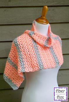 Free Crochet Pattern...Tangerine Waves Wrap!