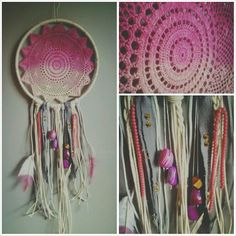 dream catcher project idea  dye, project, doily, ombre