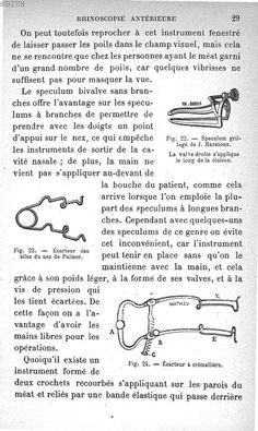 Baratoux, Jean. Guide pratique pour l'examen des maladies du larynx, du nez et des oreilles. Paris : Société d'éditions scientifiques, 1892. BIU Santé -