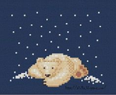 Polar Bear Cross Stitch Pattern · Cross-Stitch | CraftGossip.com