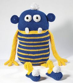 What would you name this crocheted monster? ;) #Caron #Yarn