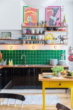 A Vibrant Fun Place To Live Colorful Modern Apartment interior design 5 - Add Modern To Your Life Apartment Interior Design, Interior Design Kitchen, Modern Interior Design, Interior Decorating, Interior Architecture, Simple Interior, Interior Sketch, Interior Office, Farmhouse Interior