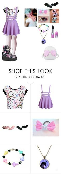 """Pastel Goth"" by dragonladydoctor ❤ liked on Polyvore featuring Glitter Pink"