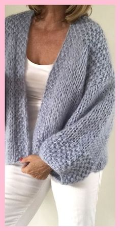 Superbe veste doudou tricot femme pour grands froids✿‿Woollies For Winte r⁀✿ Spring, Summer Or Fall. Sweater Knitting Patterns, Cardigan Pattern, Crochet Cardigan, Knit Patterns, Knit Crochet, Crochet Hats, Beige Cardigan, Shrug For Dresses, Knitwear Fashion