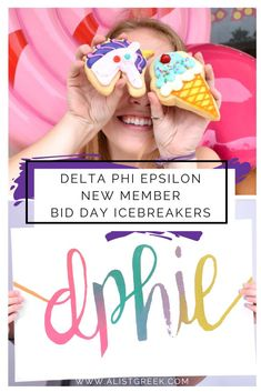 Plan the perfect Delta Phi Epsilon Bid Day with A-List Greek's list of icebreakers that are fun, low pressure, and help new members feel right at home on bid day! #deltaphiepsilon #dphie #deepher #bidday #biddayplanning