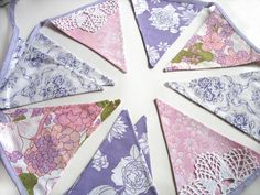 Vintage Retro Pretty Floral Pink & Lilac by MerryGoRoundHANDMADE, $29.95