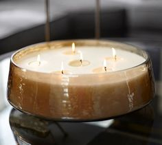 Oversized Luster Multiwick Candle Pot   Pottery Barn