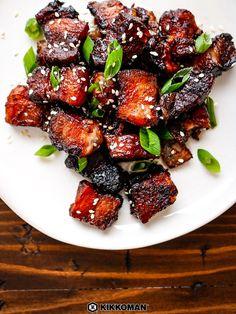 Sweet and Sticky Five Spice Pork Belly - Pork Recipes Grilled Pork Belly Recipe, Pork Belly Recipe Oven, Asian Pork Belly Recipes, Chinese Pork Belly Recipe, Pork Bowl Recipe, Pork Recipes, Pork Belly Slices, Sticky Pork, Pork Marinade