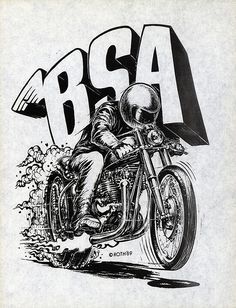 New Hot Rod Poster Ed Big Daddy Roth BSA motorcycle art print Logos Vintage, Vintage Bikes, Vintage Motorcycles, Vintage Posters, Vintage Art, Triumph Motorcycles, Bsa Motorcycle, Motorcycle Posters, Motorcycle Birthday