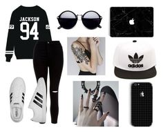 """""""Sin título #445"""" by pamela-m-z on Polyvore featuring moda, New Look y adidas"""