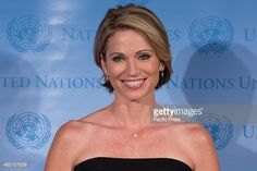 Amy Robach, News Anchor for ABC, Good Morning America attends the 2015 World Humanitarian Day at the United Nations in New York City.