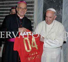 * Papa Francisco com a Camisa Sagrada do SPORT CLUB DO RECIFE *